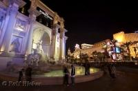 The popular Forum Shops shopping Centre is part of the Caesars Palace hotel in Las Vegas, Nevada.