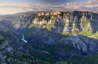 The spectacular scenic Verdon Canyon is one of the most breathtaking sights you will discover in the Gorges Du Verdon of the Provence, France in Europe.