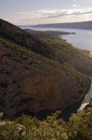A beautiful scenic view from the cliffs of the Verdon Gorge in south-eastern France.
