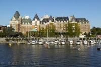A city haven, the marina in the inner harbour near downtown Victoria attracts many boaters from all corners of the globe.