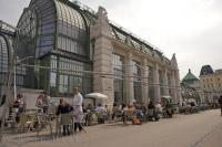 The Palmenhaus Cafe is a great place for a good meal in Vienna, Austria in Europe.