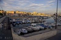 The busy marina in Sausset les Pins village on la Cote Bleue in Provence, France.