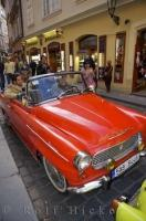 A tour through the streets of Prague in vintage cars is a spectacular way to see the city of the Czech Republic in Europe.