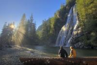 The pristine Virgin Falls, a waterfall situated on the West Coast of Vancouver Island is a great location to spend a while for a romantic picnic or just for nature viewing.