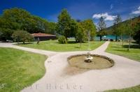 Situated at the Furneaux Lodge in Endeavour Inlet is a historic water feature with paths which leads in all directions.