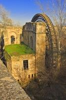 A reconstruction of the 13th century Molino de la Albolafia water wheel can be found along the Rio Guadalquivir in the city of Cordoba, Andalucia, Spain.