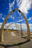 This whale bone exhibit in Taranaki, New Zealand was created over time with a great amount of care and patience.