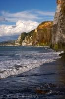 The stunning White Cliffs Reserve in Taranaki, New Zealand is named after the White Cliffs of Dover in England.