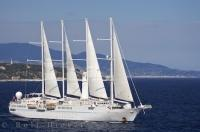 The elegant Windstar Yacht sets sail from Monte Carlo, Monaco in Europe for another adventurous cruise.