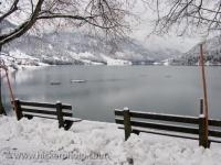 Winter Lake Scene Siebenen Switzerland