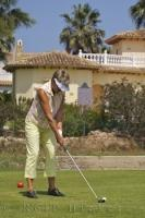 Woman Golfing Oliva Nova Golf Course Spain