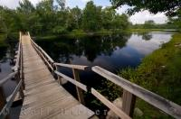 Wooden Footbridge Mersey River Nova Scotia