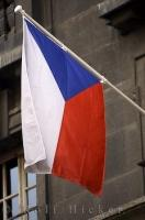 The blue, white and red colors of the flag of the Czech Republic are very striking.