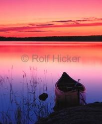 Lake Sunset Canoe Pictures