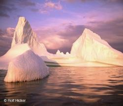 Sunset Light Iceberg Pictures