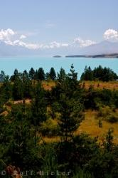 Lake Pukaki Mountain Scenery New Zealand