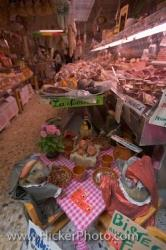 Meat Shop Customers Florence City Italy