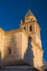 Church Of Saint Mary La Alhambra City Of Granada Andalusia Spain