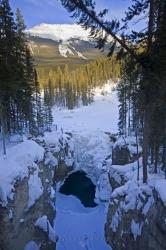 Snow Covered Rocky Mountains Winter Scenery
