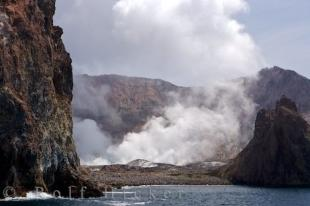 photo of Active Volcano White Island Bay Of Plenty New Zealand