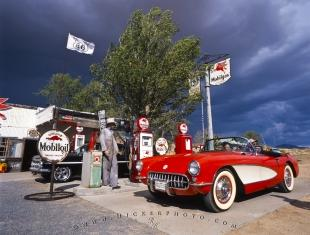 photo of Old Gas Station Old Car Historic Route 66