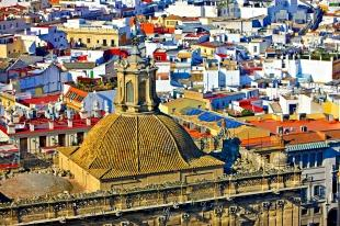 photo of Aerial Rooftops Medieval City Seville