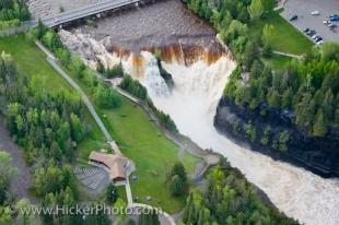 photo of Aerial View Kaministiquia River Kakabeka Falls Provincial Park Ontario