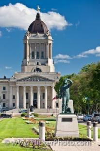 photo of Statue Airman Legislative Building Winnipeg Manitoba Canada