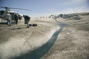 photo of helicopter glacier tour