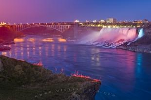 photo of American Falls Night Illumination Niagara River
