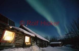 photo of Alaska Cabin Northern Light Picture