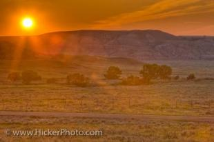 photo of Big Muddy Badlands Sunset
