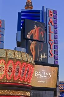 photo of Neon Lights Dusk Ballys Hotel Casino Las Vegas