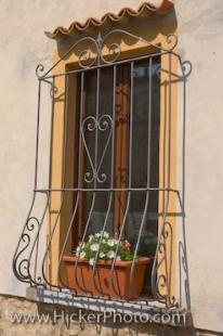 photo of Barred Window Picture Volterra Tuscany Italy