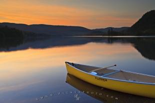 photo of Beautiful Lake Sunset Lake Monroe Quebec