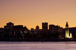 photo of Beautiful Montreal City Skyline Sunset Quebec