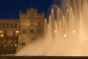 photo of Beautiful Plaza De Espana Night Sevilla Andalusia Spain