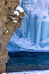 photo of Beautiful Winter Ice Formations Johnston Canyon Banff National Park