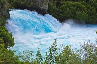 photo of Blue Waterfall Huka Falls Taupo New Zealand