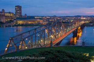 photo of Alexandra Bridge Dusk Ottawa River Ontario Canada