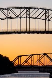 photo of Bridges Sunset Sault Ste Marie Ontario
