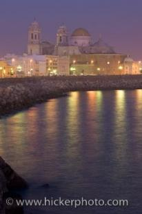 photo of City Of Cadiz Costa De La Luz Andalucia Spain Dusk Picture
