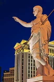 photo of Statue Caesars Palace Hotel and Casino Dusk