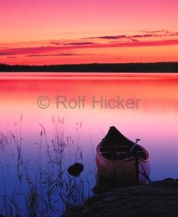 photo of Lake Sunset Canoe Pictures