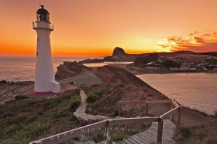 photo of Castlepoint Lighthouse Sunset New Zealand