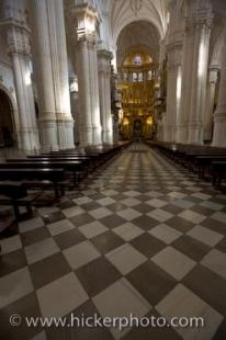 photo of Granada Cathedral Aisle Andalusia Spain