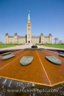 photo of Centennial Flame Parliament Hill Centre Block Ottawa Ontario Canada