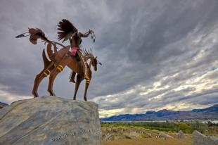photo of Native Chief Art Sculpture Osoyoos Okanagan