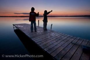 photo of Children Fishing Lake Audy Manitoba