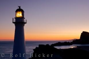 photo of Colorful Sunset Castlepoint Lighthouse New Zealand